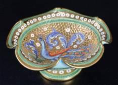 Deruta Italian Majolica Footed Bowl