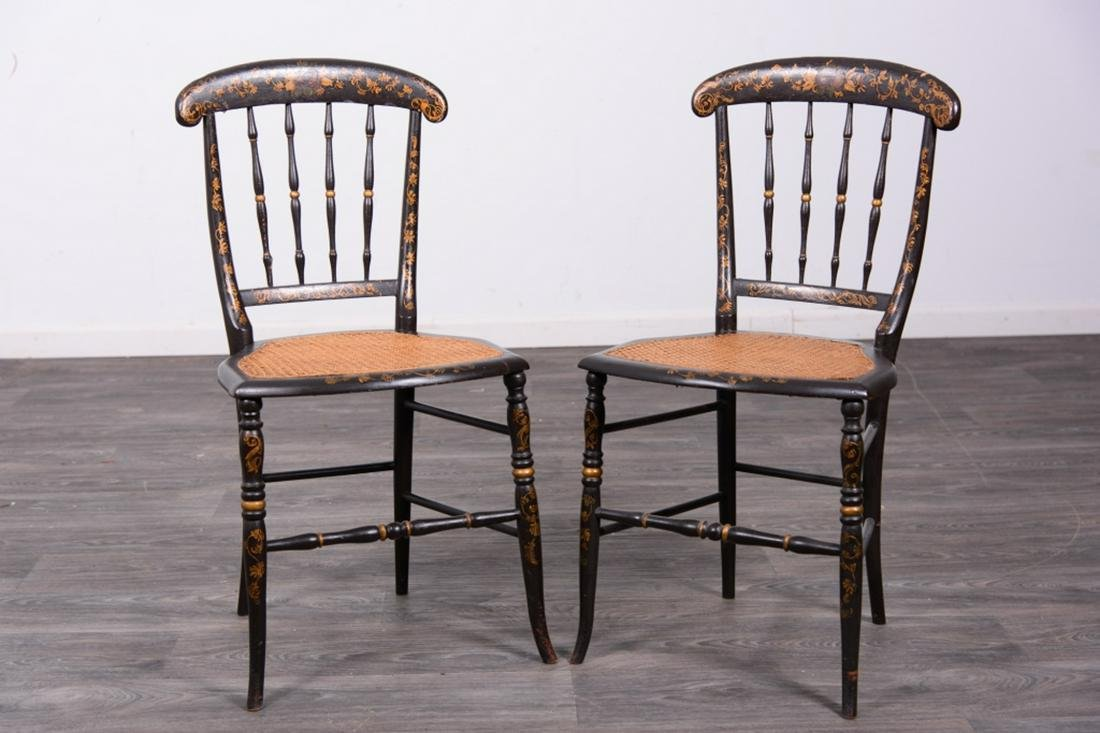 Pair Fancy Side Chairs