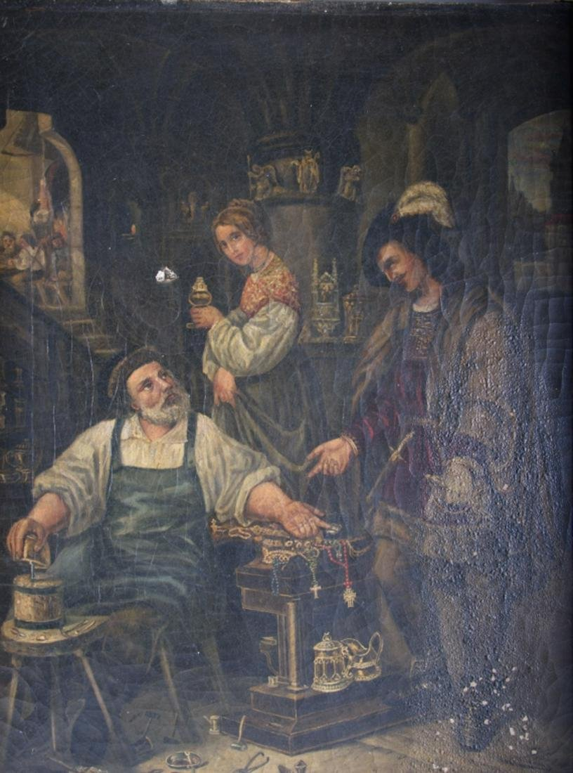 Haas Oil on Canvas Painting