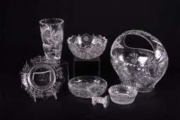Cut Crystal Group 7 Pieces