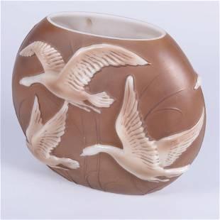 Phoenix Molded Glass Pillow Vase