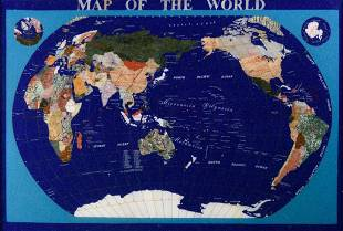Inlaid Map of the World