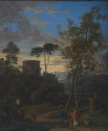 Claude Lorrain Oil on Canvas Painting