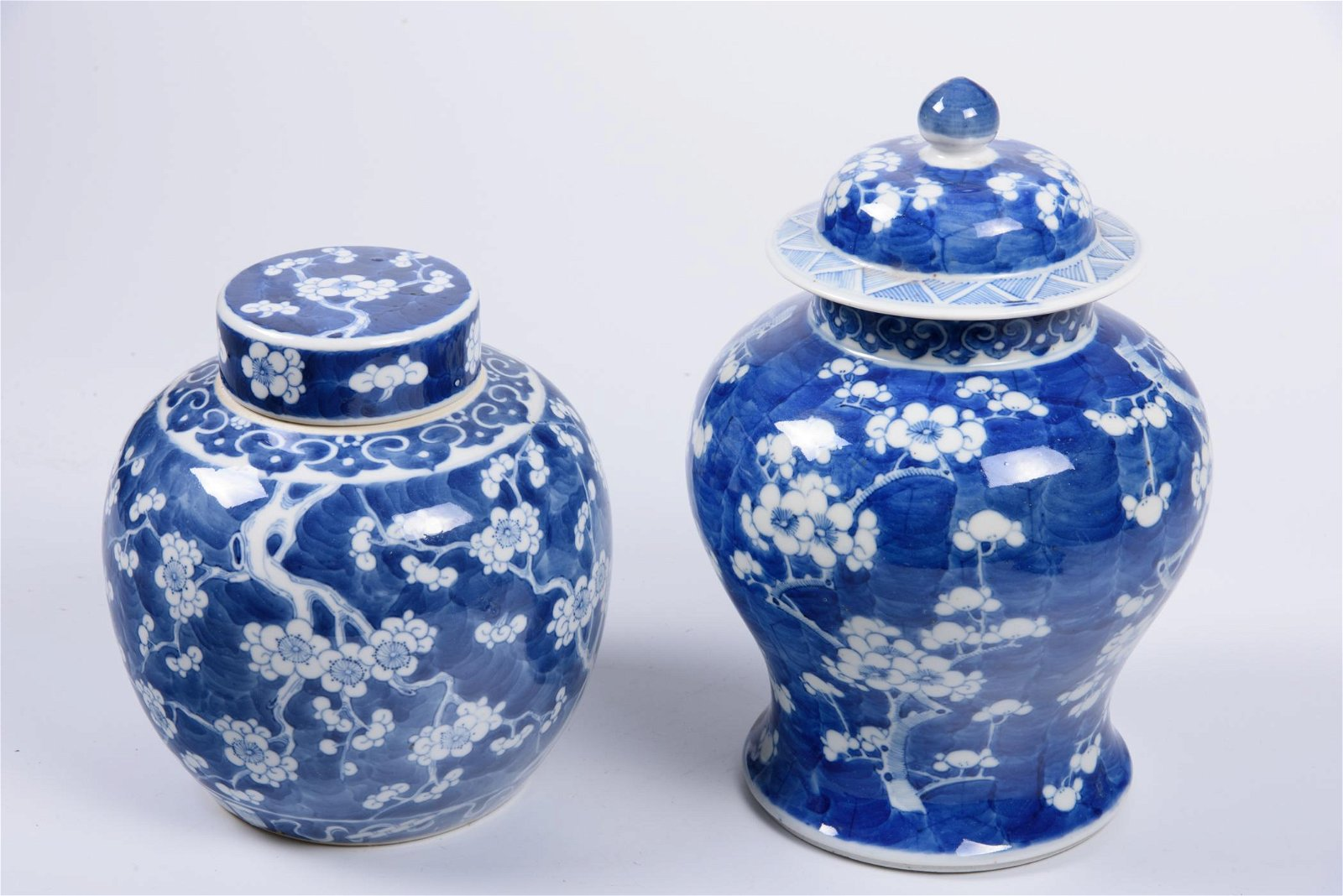 Two Asian Blue and White Porcelain Jars