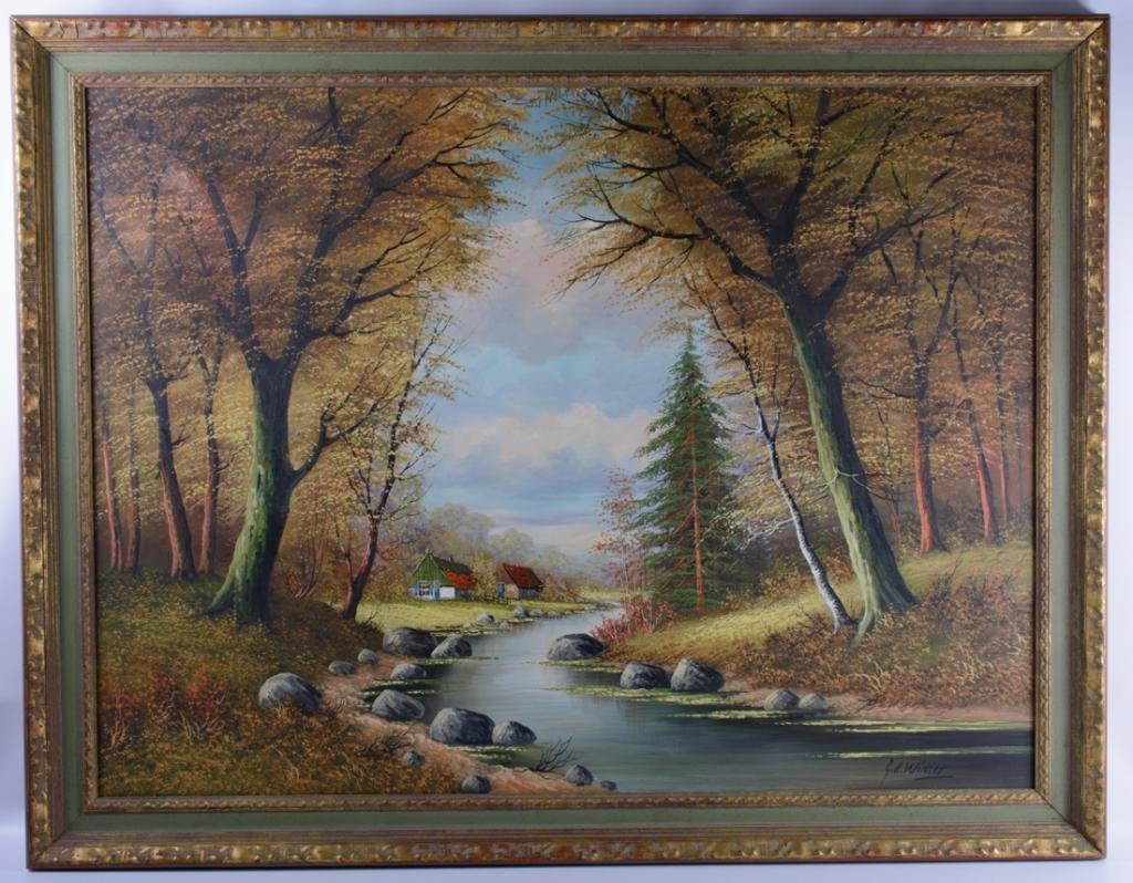 G.D. Winter Oil on Canvas Landscape