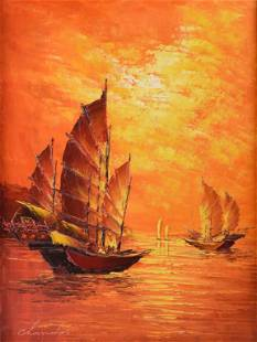 Chandor Oil on Canvas Painting