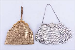 Two Whiting Link Metal Evening Bags
