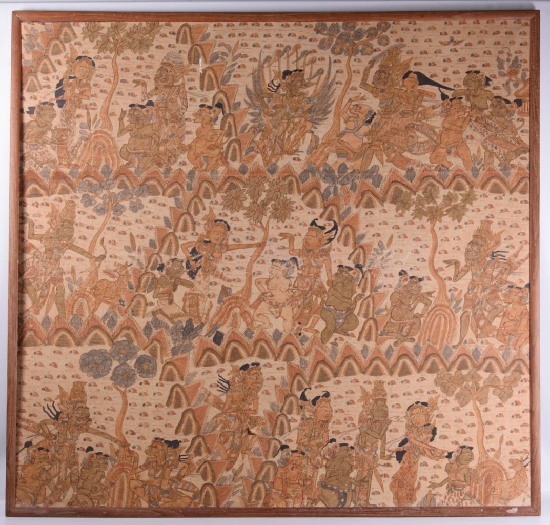 Balinese Hindu Printed Fabric