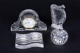 Four Waterford Crystal Paperweights