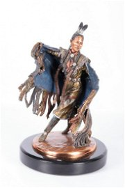 C.A. Pardell Sculpture Native American Dancer