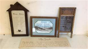 Washboard Needlepoint South Wall Hanging Poem