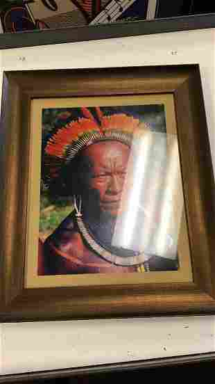 Framed Indian Photograph