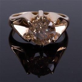 2.3 ct. Diamond Solitare Gold Ring