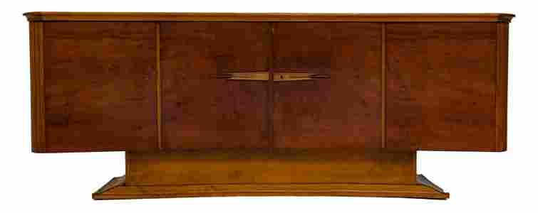 Art Deco Exotic Hardwoods Credenza