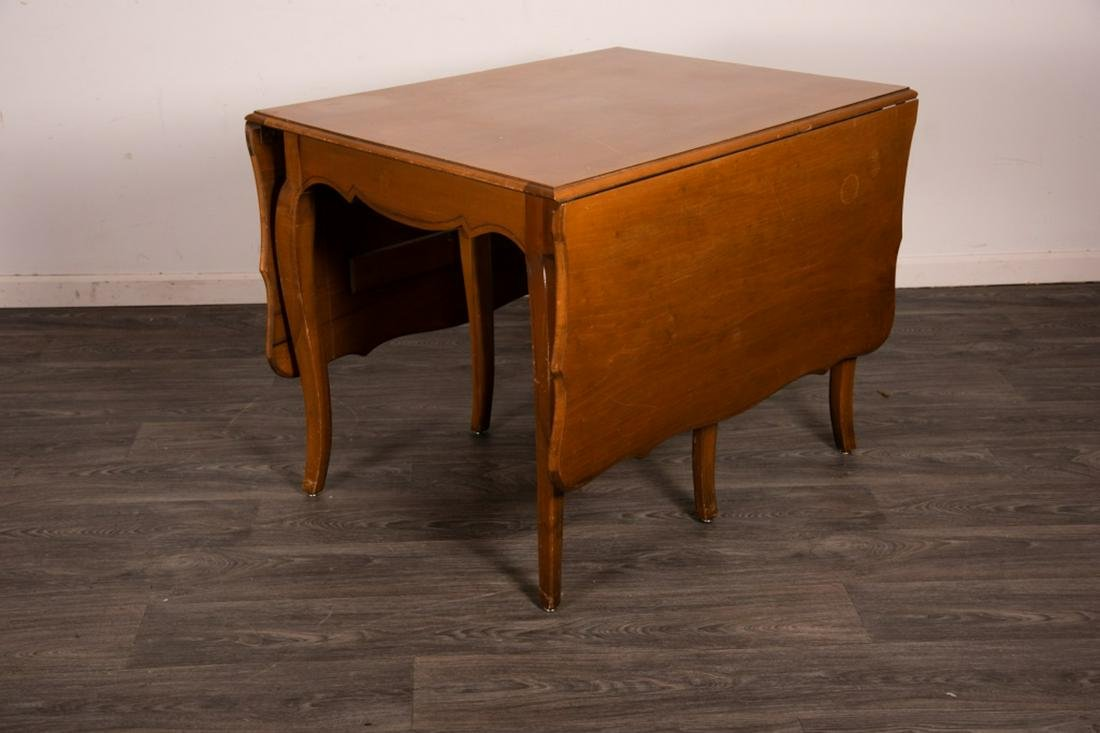 Maple Finish Drop Leaf Dining Table