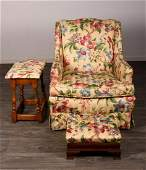 Biggs Chair with Ottoman & Side Table