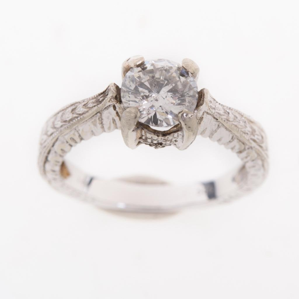 0.97 ct Diamond Solitaire White Gold Ring