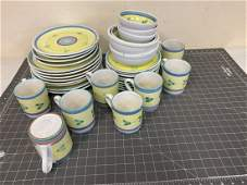 Thirty Five Piece Ceramic Group by Caleca