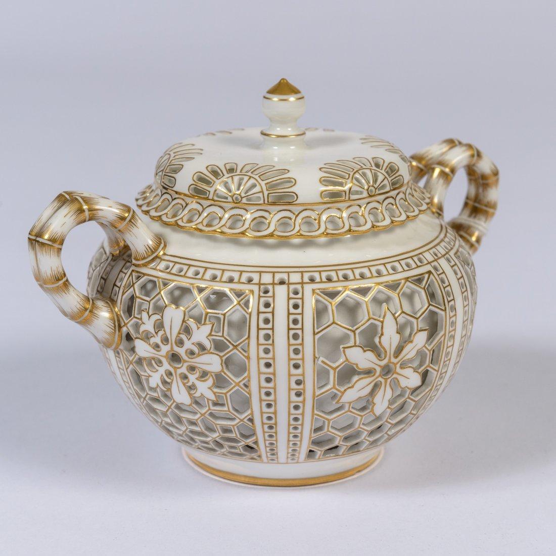 A Napoleonic Second Empire Sevres Sugar Bowl,