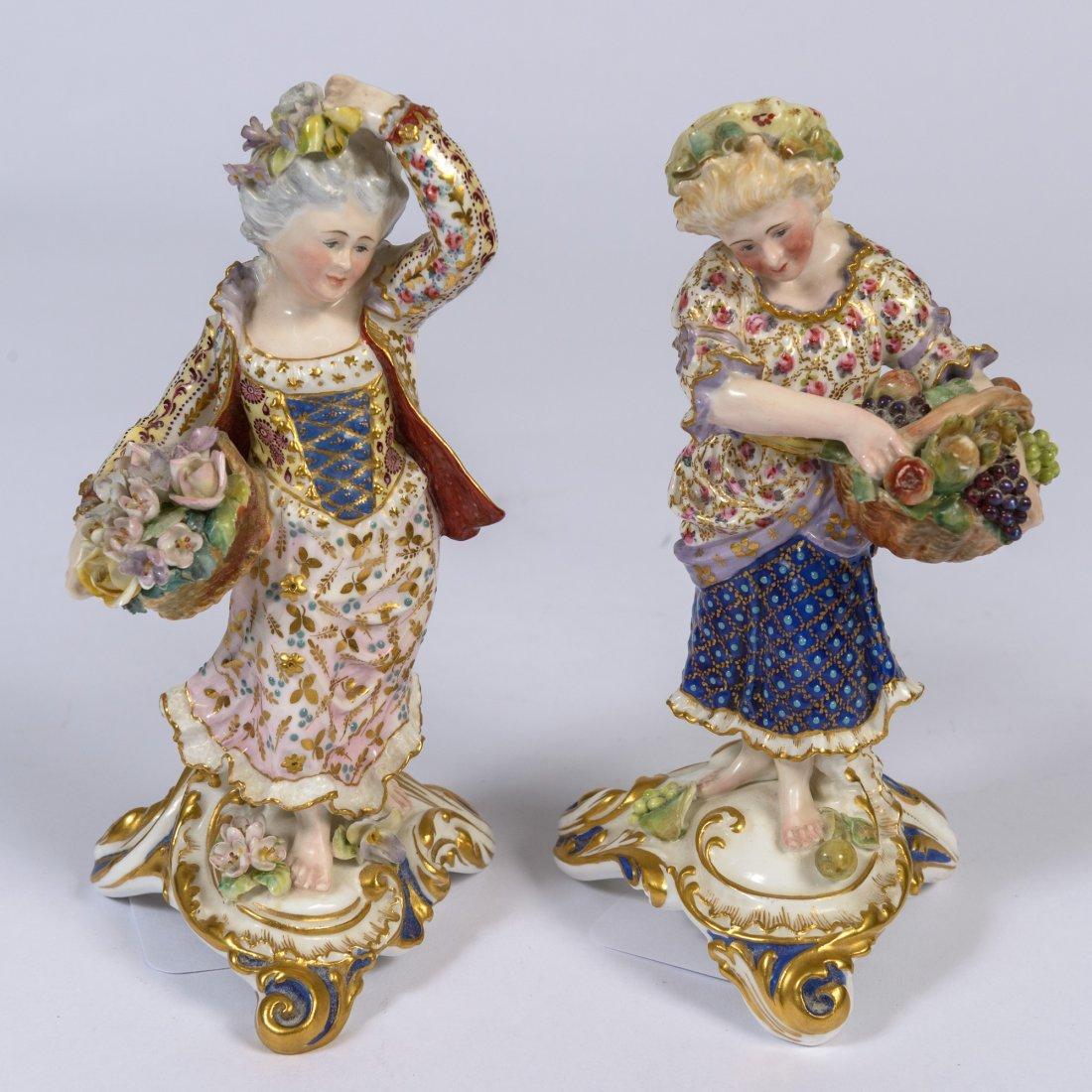A Pair of Royal Crown Derby Porcelain Figures,