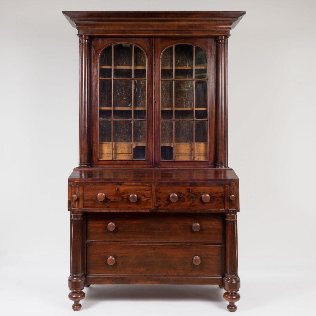 An E-M 19th C Mahogany Secretary Bookcase,
