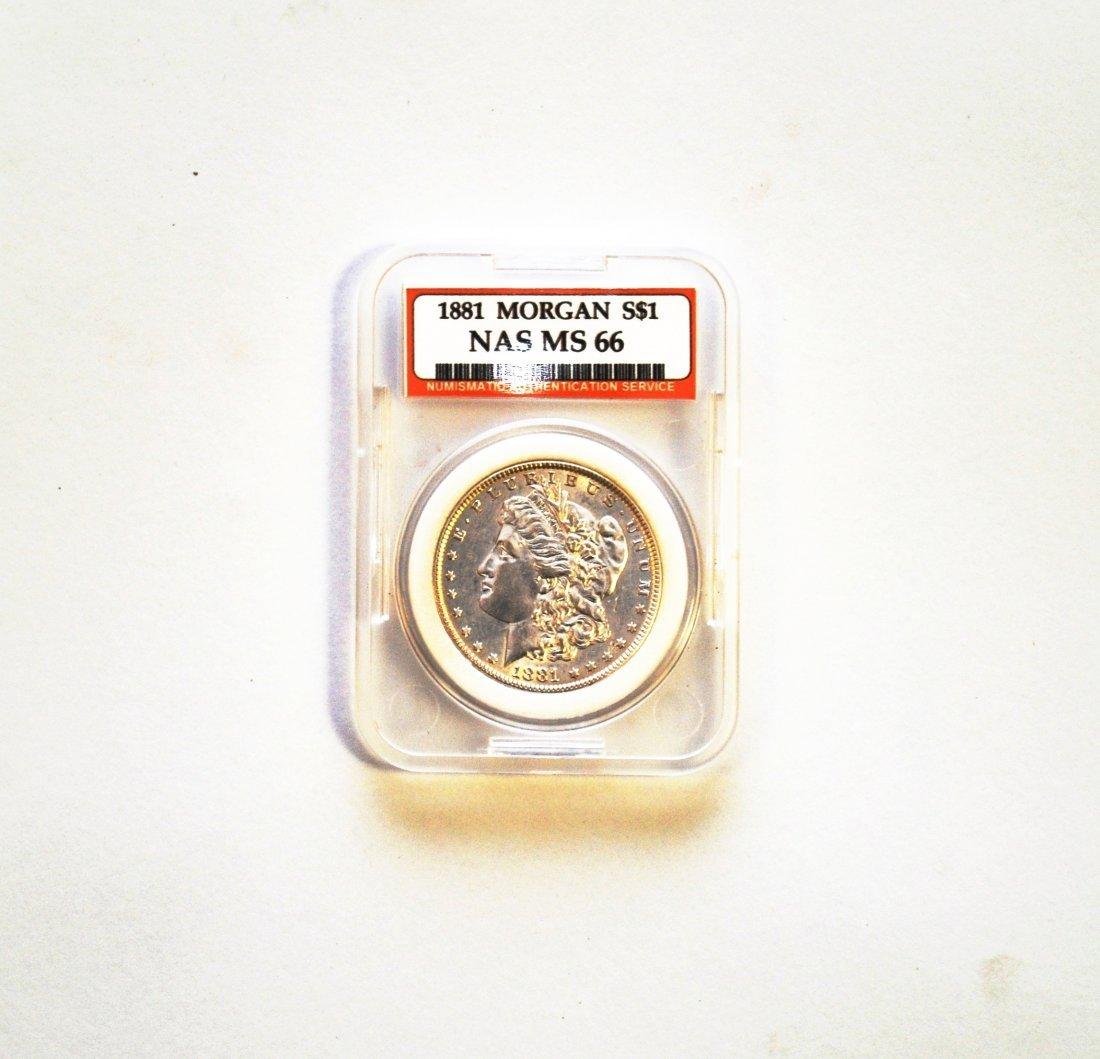 1881 Morgan Silver Dollar MS 66