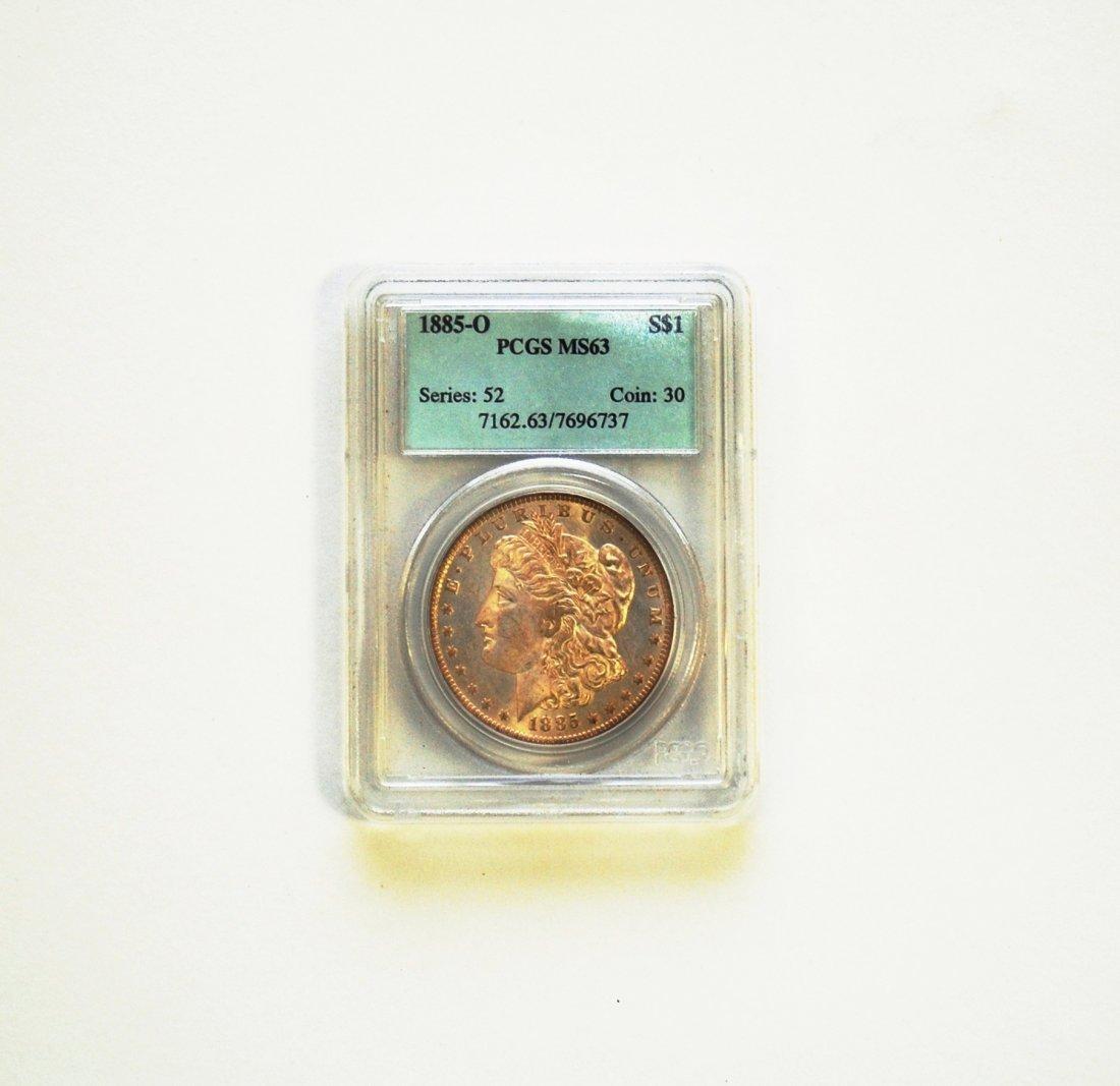 1885-O Morgan Silver Dollar MS 63