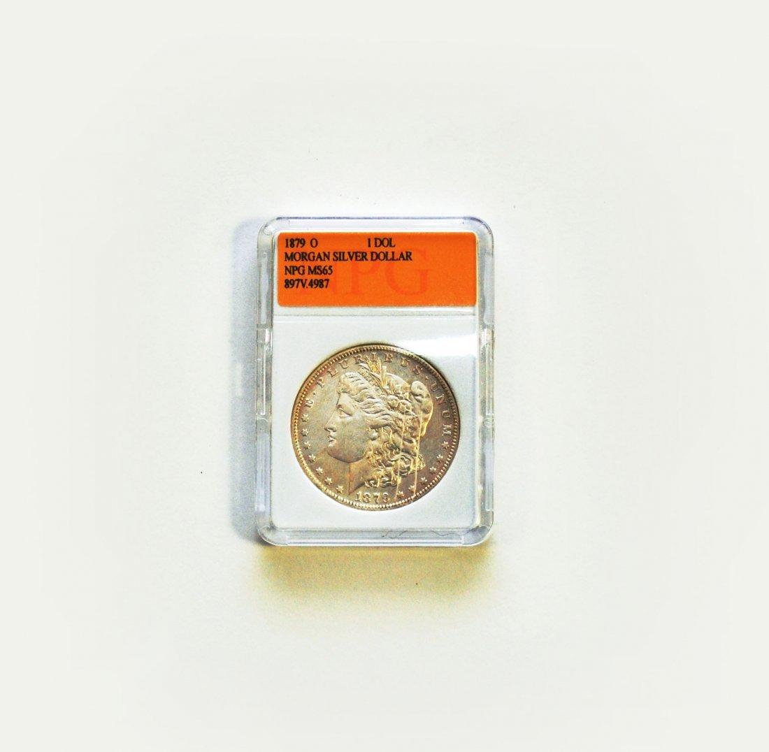 1879-O Morgan Silver Dollar MS 65