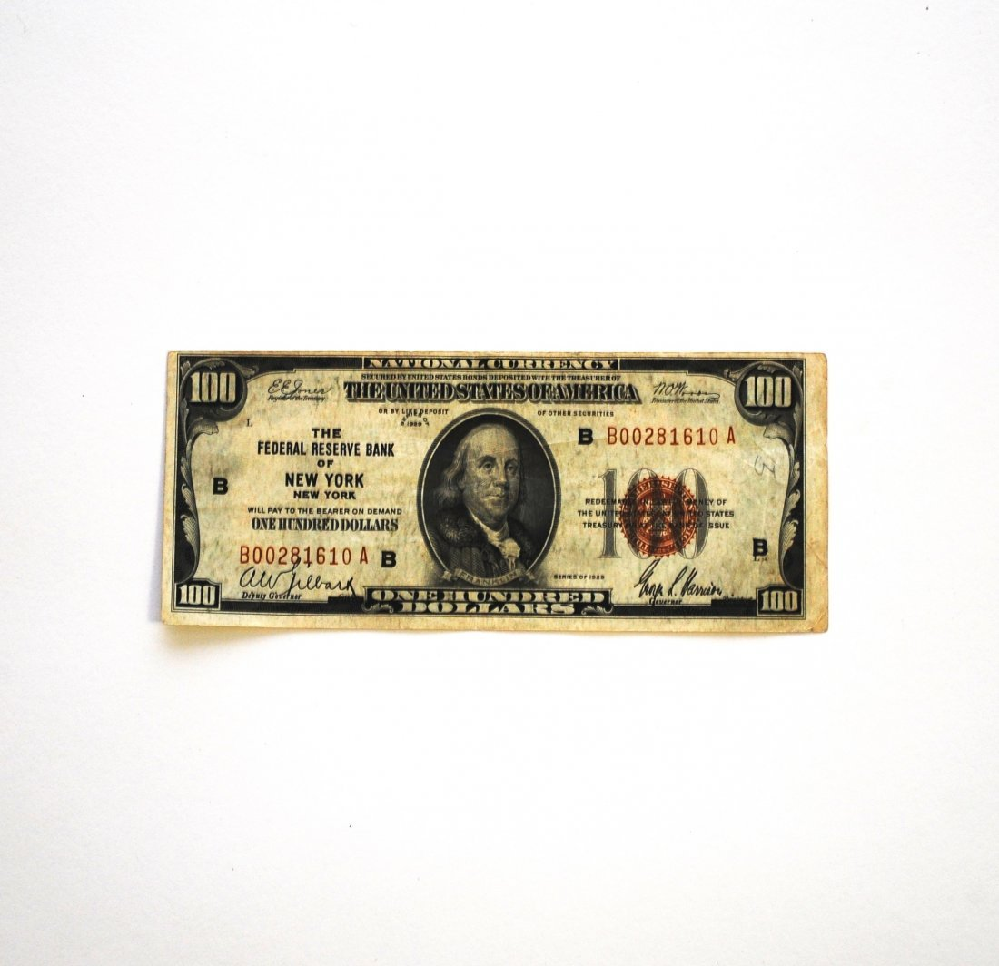 One Hundred Dollar ($100) Note, Fed. Reserve of NY