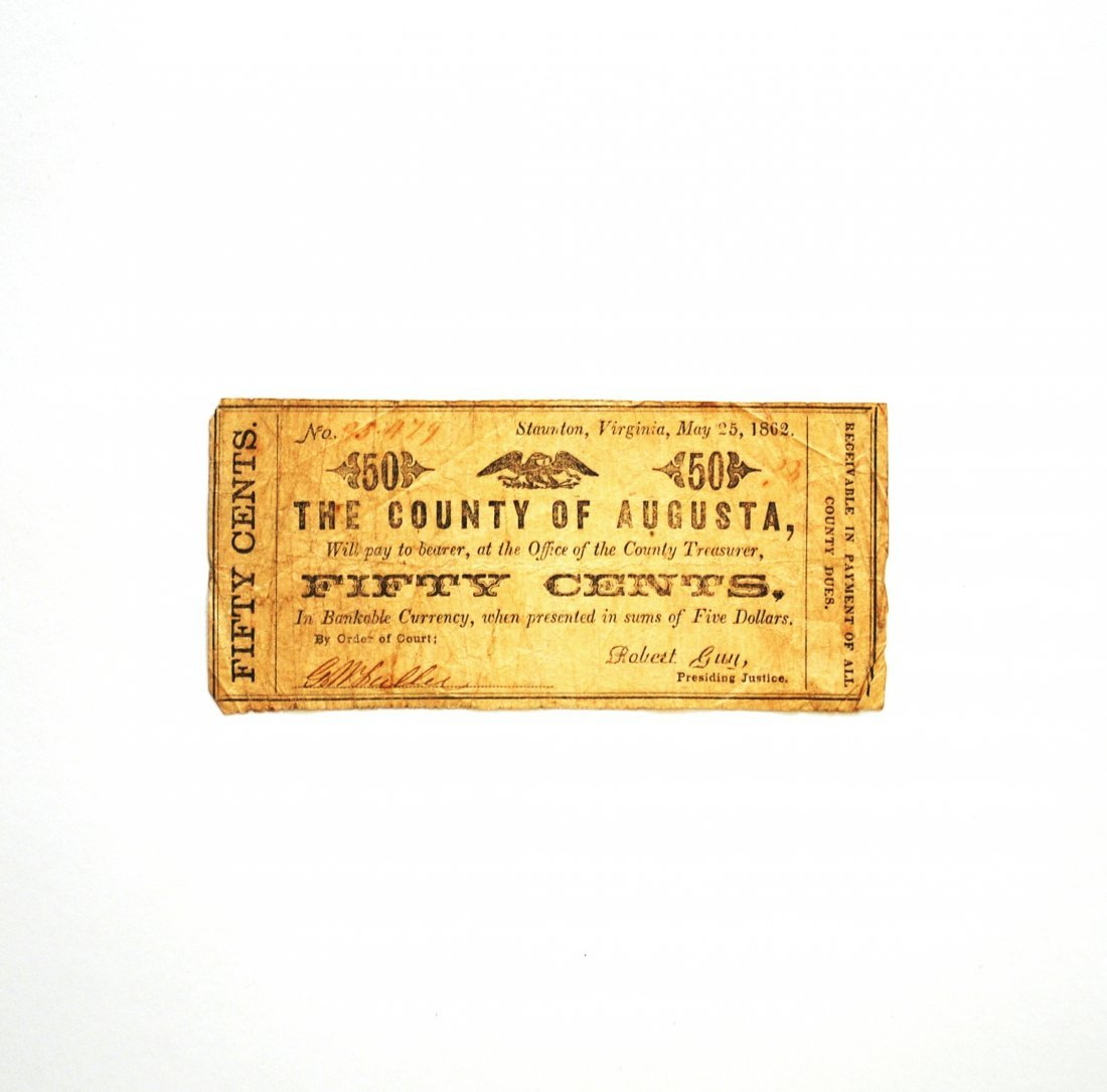 The County of Augusta Fifty Cents ($0.50) Note