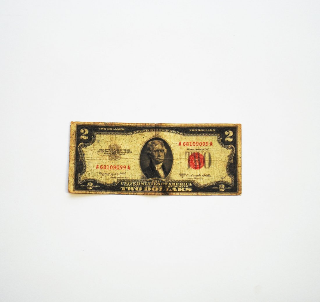 U.S. Note Two Dollar ($2) Red Seal, 1953B