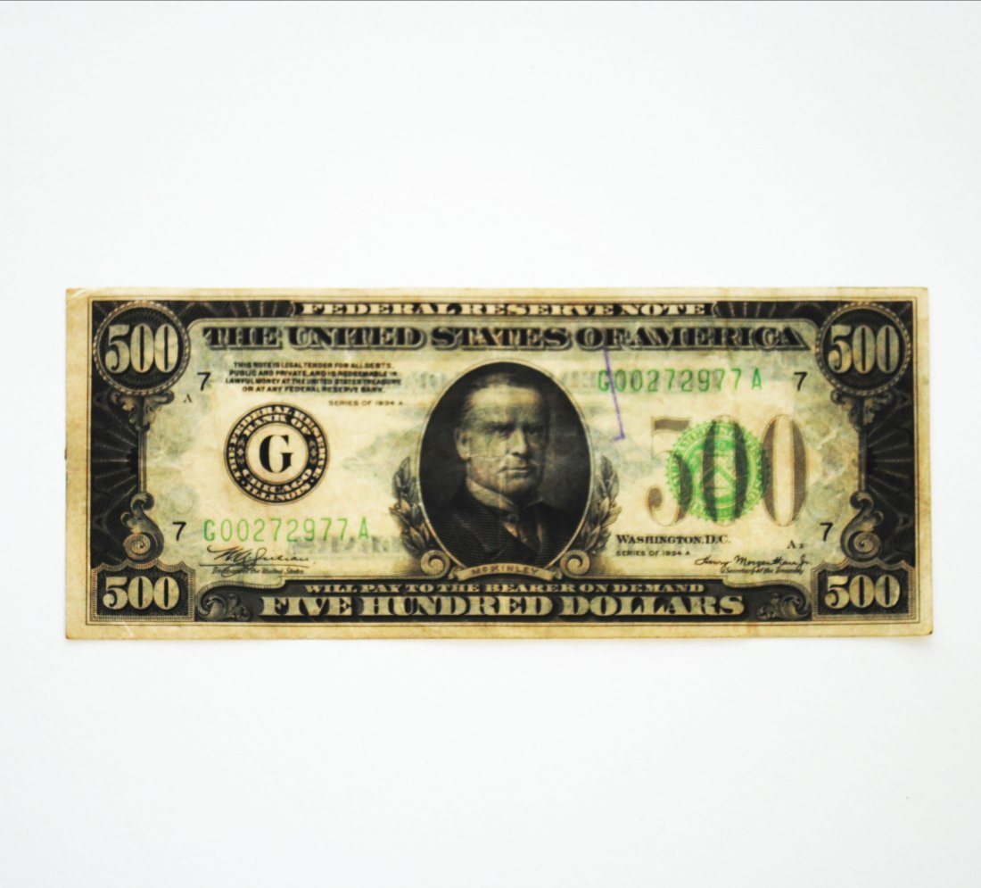 Five Hundred Dollar ($500) Note, Chicago 1934A