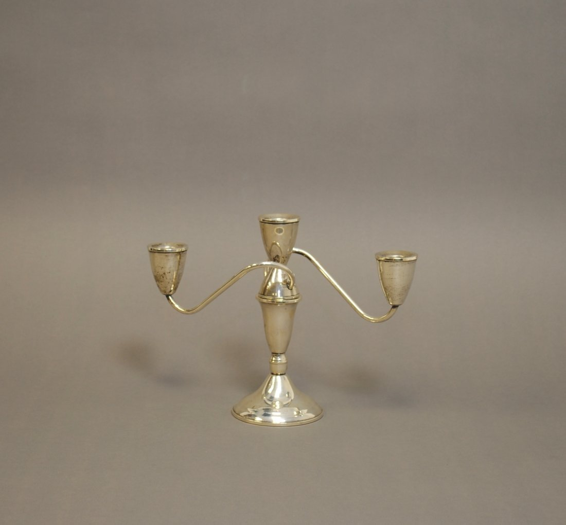 Sterling Two Branch Candelabra