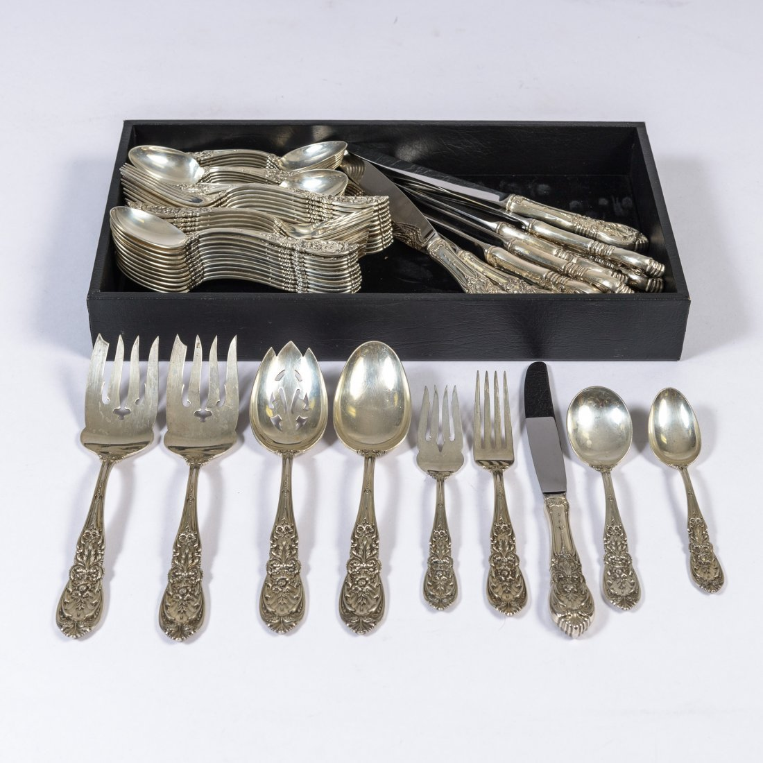 A Sterling Silver Richelieu Pattern Flatware Set