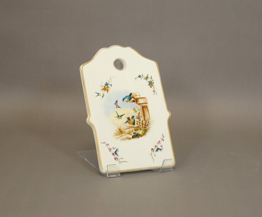 A Russian Pre-Revolutionary Porcelain Cheese Plate