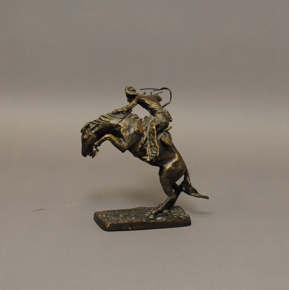 "Franklin Mint Remington Bronze ""The Bronco Buster"""