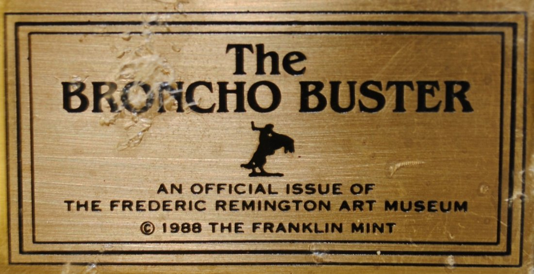 "Franklin Mint Remington Bronze ""The Bronco Buster"" - 2"