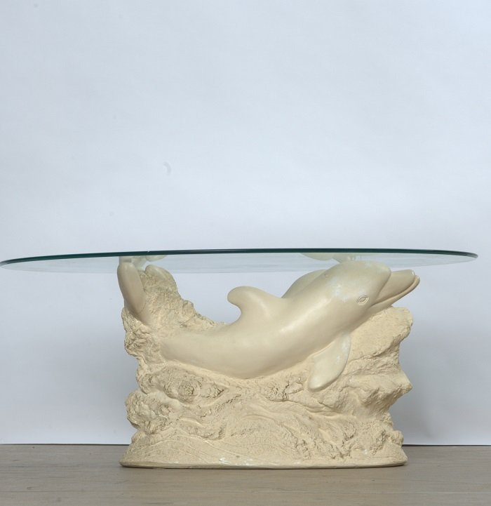 A Contemporary Figural Dolphin Based Table