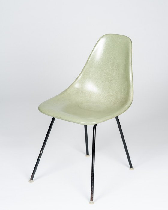 A Molded Fiberglass Chair by Cole Steel