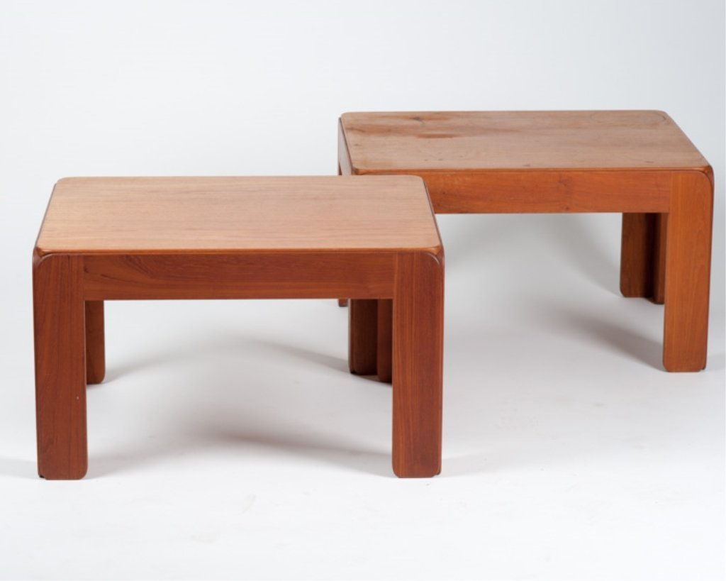 A Pair of Niels Eilersen Danish Modern Side Tables
