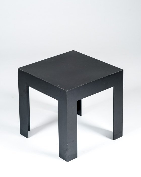 A Black Lucite Side Table
