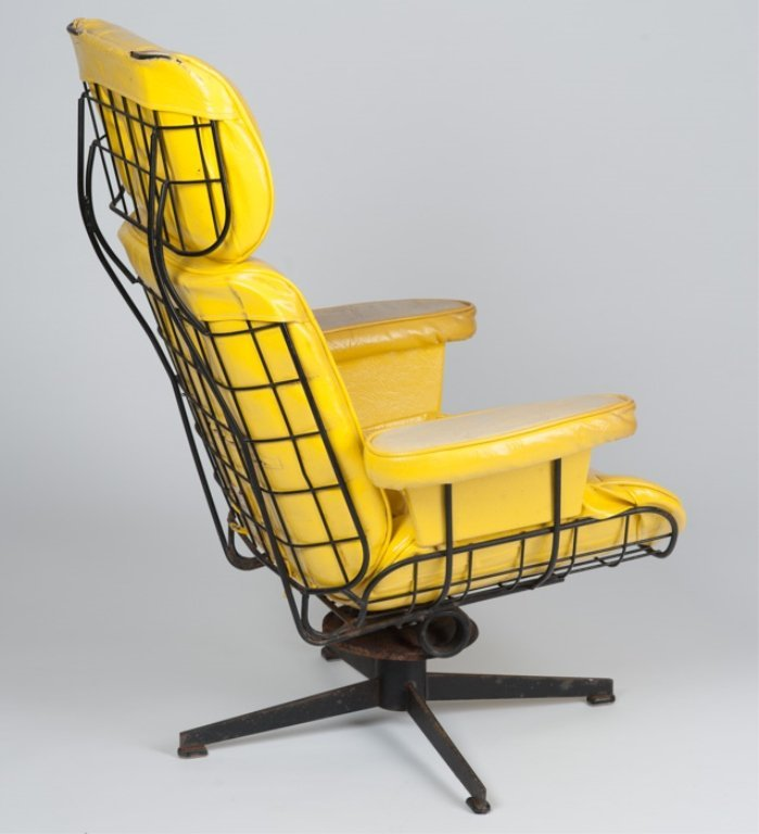 A Homecrest Wire Frame Lounge Chair w/ Ottoman - 4