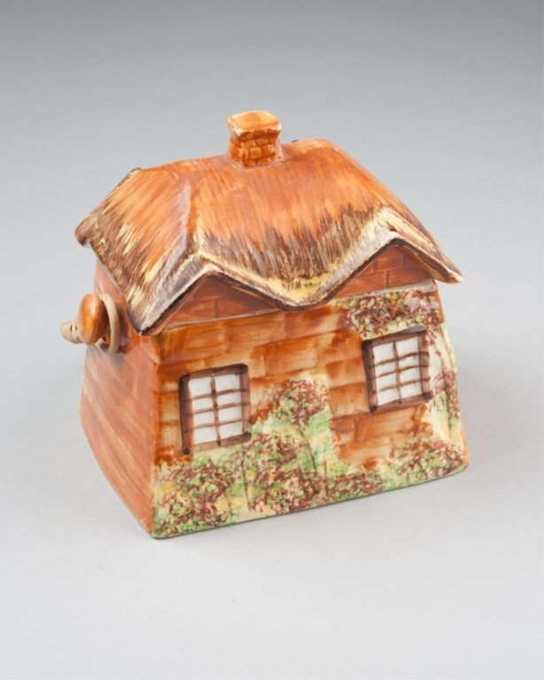 An English Cottage Ware Pottery Biscuit Jar