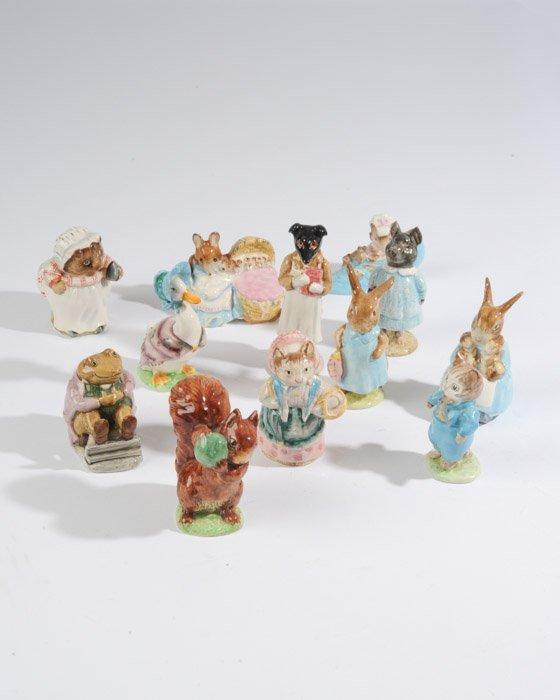 A Collection of Twelve Beatrix Potter Figurines