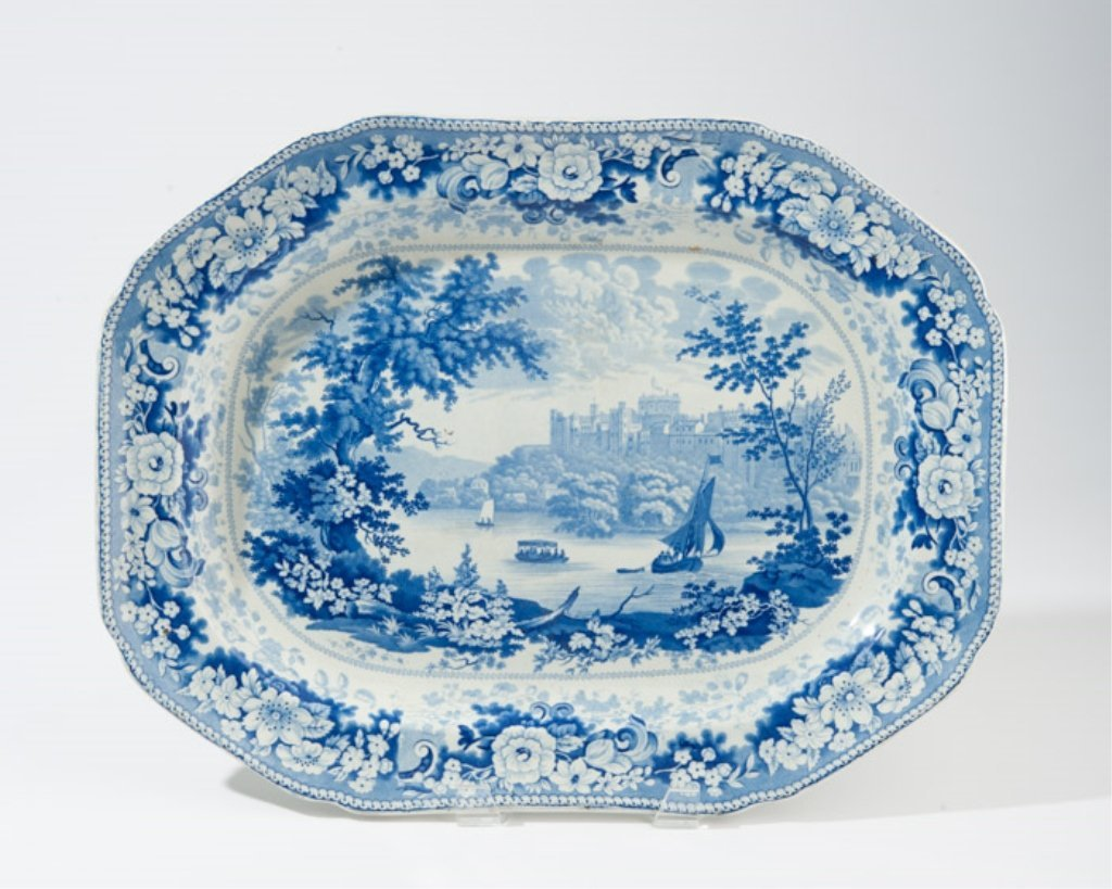 A 19th C. Blue and White Transferware Platter