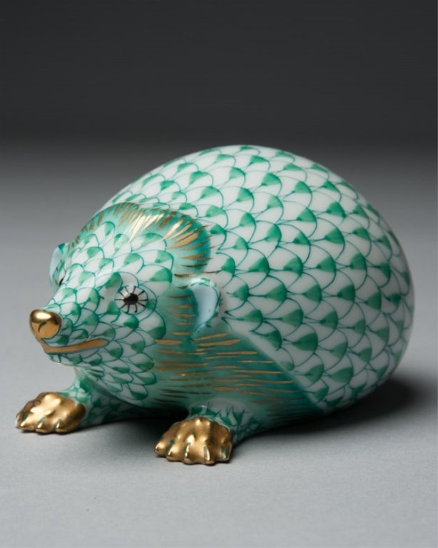 A Herend Porcelain Hedgehog Figurine