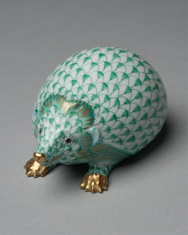 A Herend Porcelain Hedgehog Figurine - 2