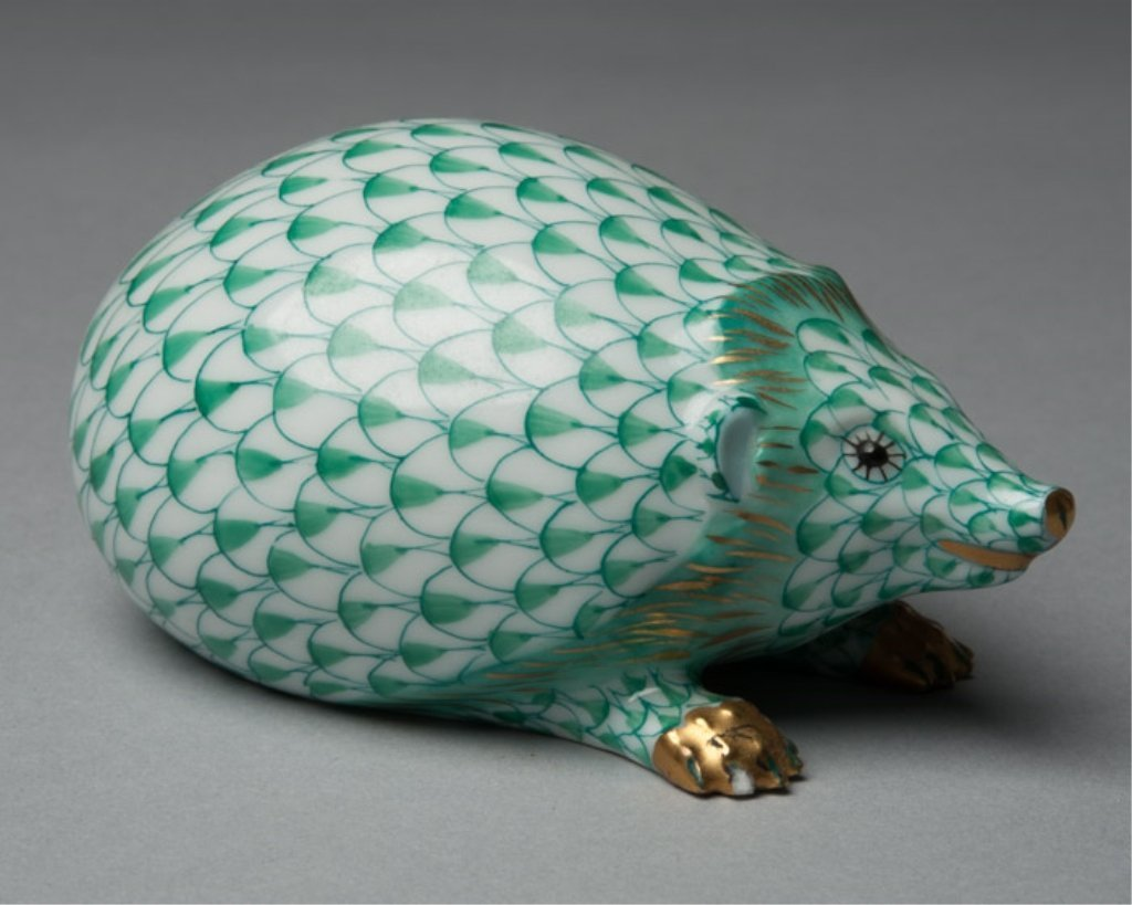 A Herend Porcelain Hedgehog Figurine - 3
