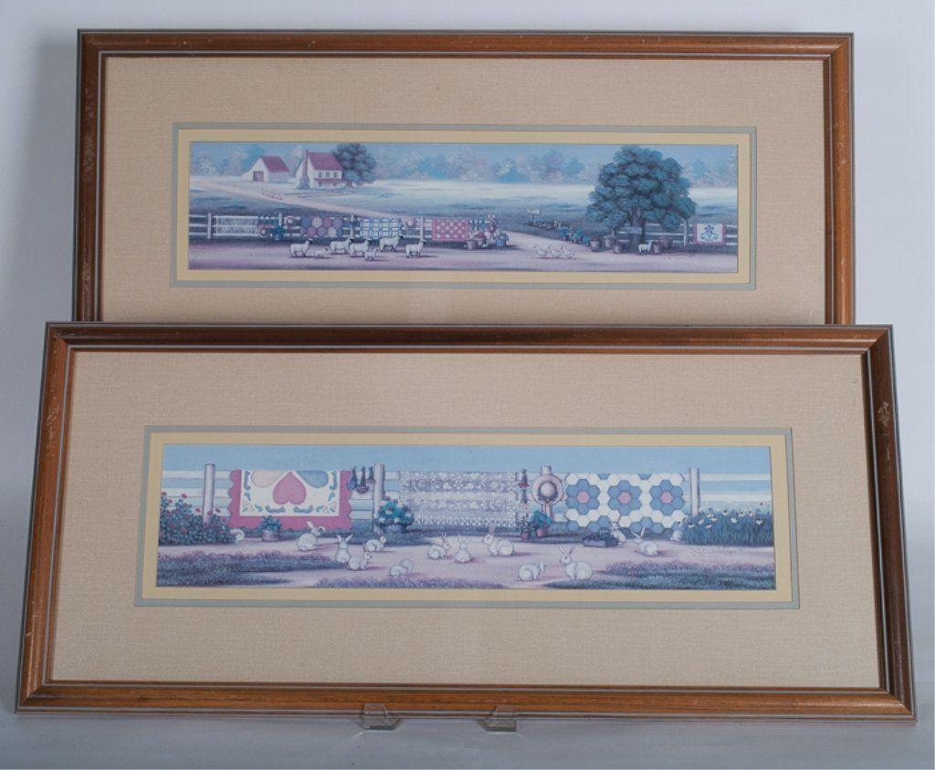 Pair of B.J. Cummings Framed Prints