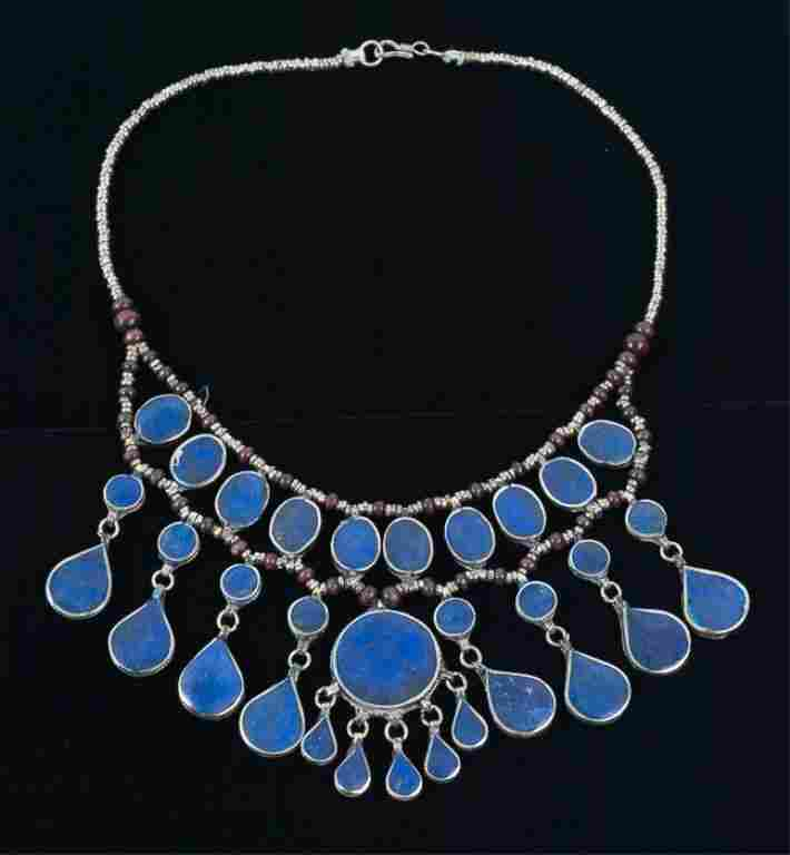 Central Asian Lapis Lazuli Bib Necklace